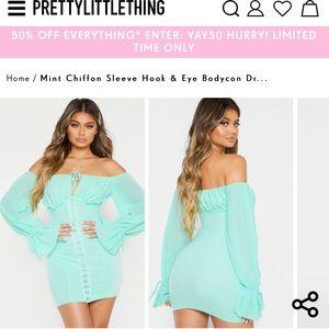 Pretty little thing mint bodycon mini dress